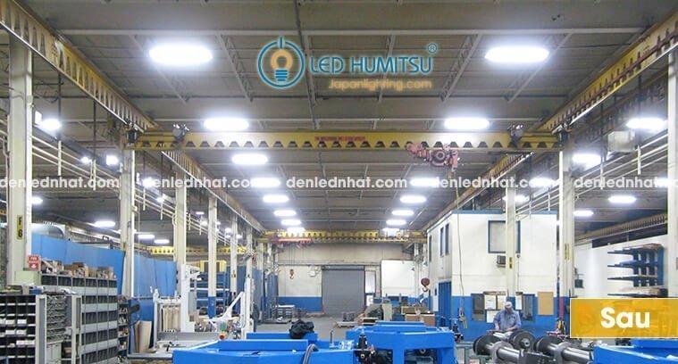 Hình ảnh: nhà máy sau khi thay bằng đèn tuýp Humitsu