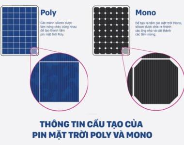 Tấm pin năng lượng mặt trời Mono và Poly