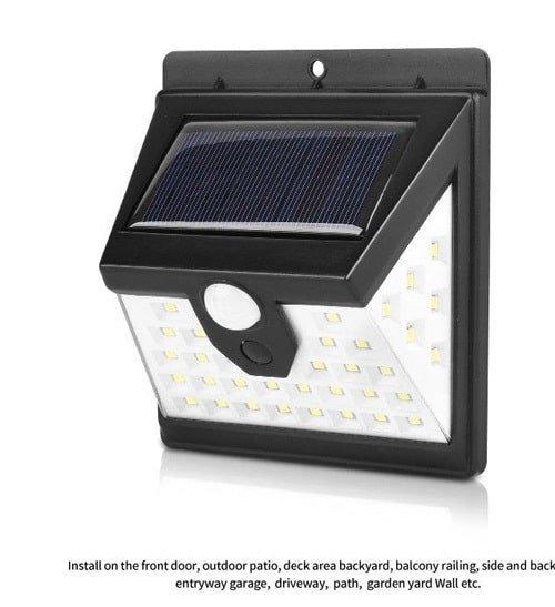 Đèn ốp tường dùng pin năng lượng mặt trời Solar