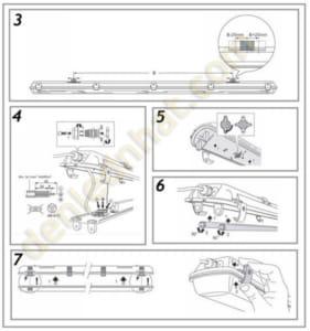 Hướng dẫn lắp đặt bộ đèn led chống ẩm IP65