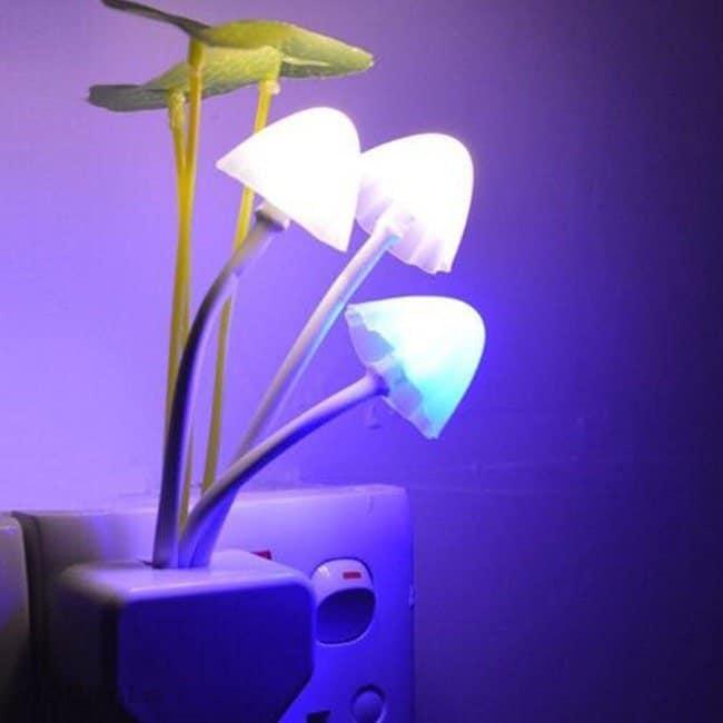 đèn ngủ, đèn ngủ LED, đèn ngủ cảm biến ánh sáng hình bông sen, hoa lá, đèn ngủ Avatar
