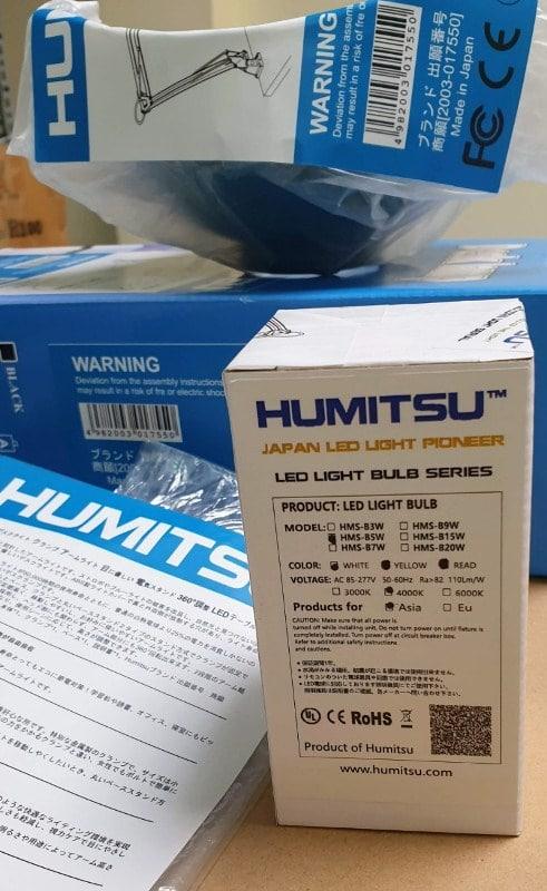Hình ảnh: Bóng đèn học chống cận thị chuyên dụng Humitsu Nhật Bản, có chỉ số hoàn màu CRI ghi Ra srcset=