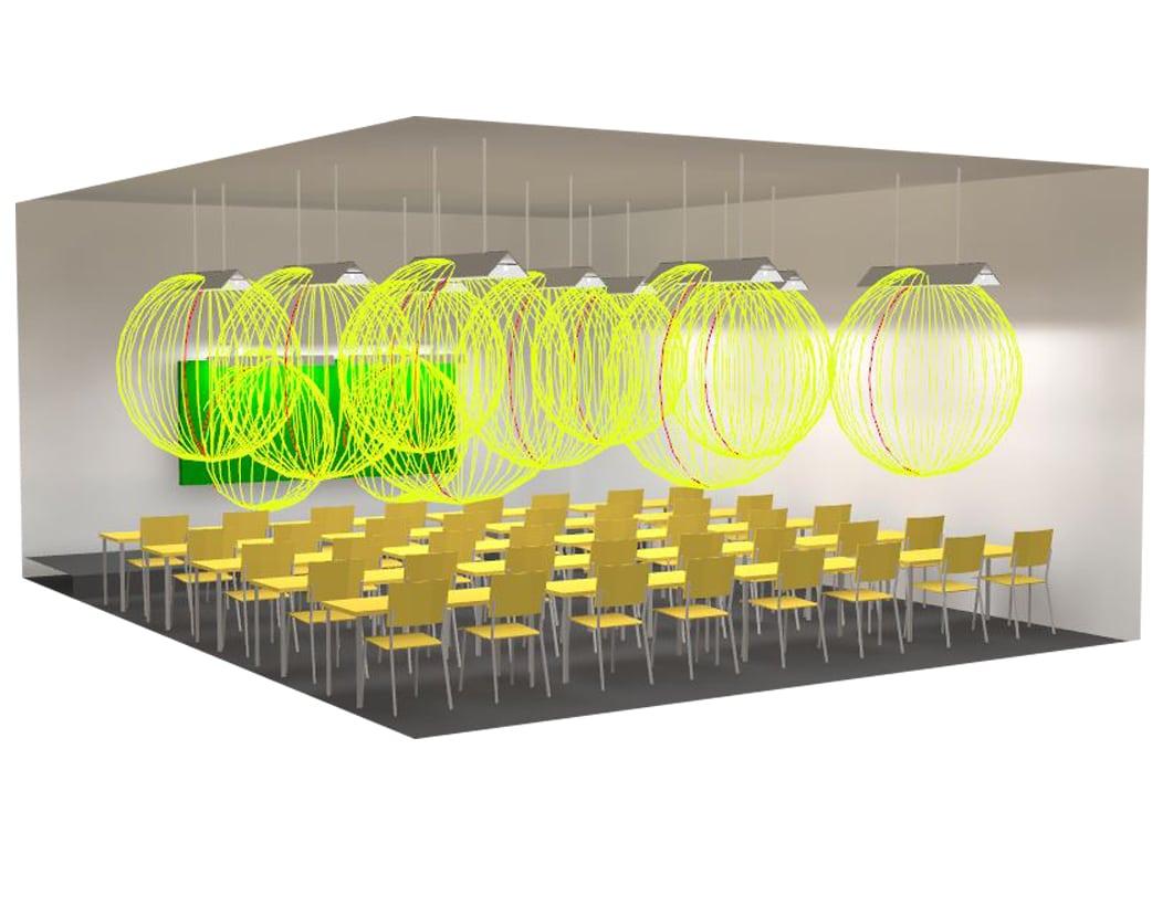 Thiết kế hệ thống chiếu sáng cho phòng học tiêu chuẩn