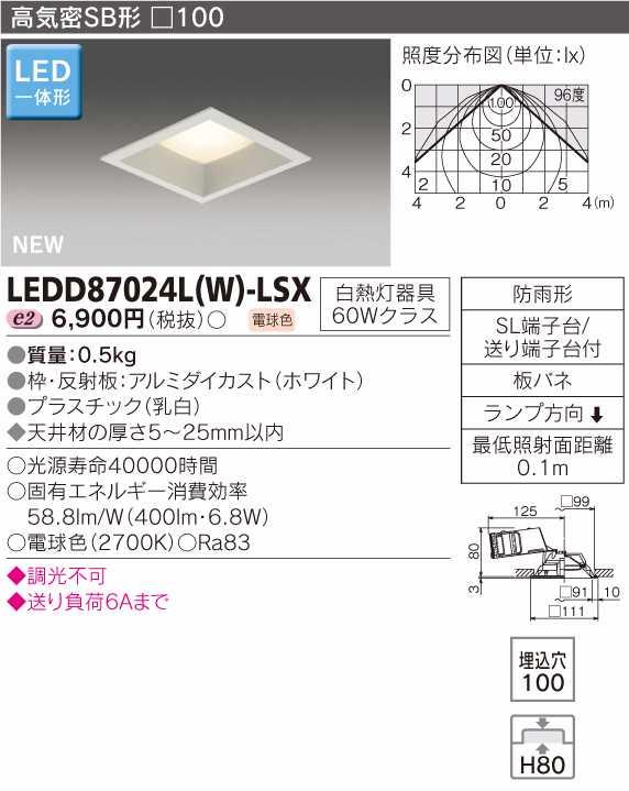 Đèn LED âm trần vuông Toshiba LEDD87024L (K)-LSX