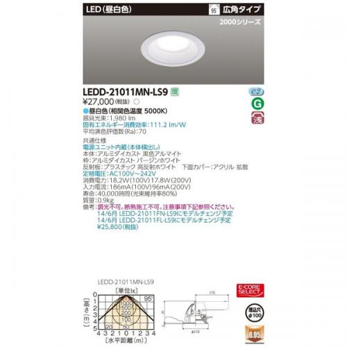 Đèn LED Âm Trần TOSHIBA LEDD-21011MN-LS9