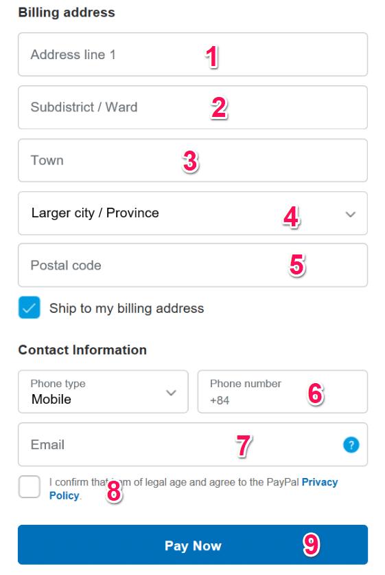 Hướng dẫn thanh toán Paypal