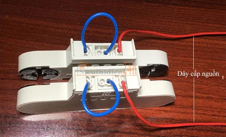 Cách đấu máng tuýp led đôi với nguồn điện 2 đầu