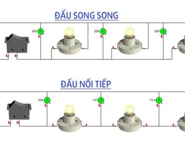 Hướng dẫn cách đấu điện mạch song song và nối tiếp