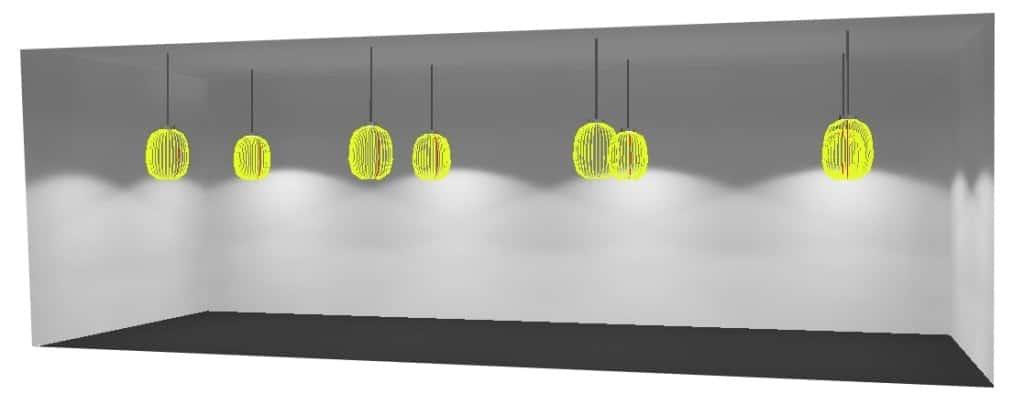 Thiết kế 3D Đèn dùng trong kho hàng