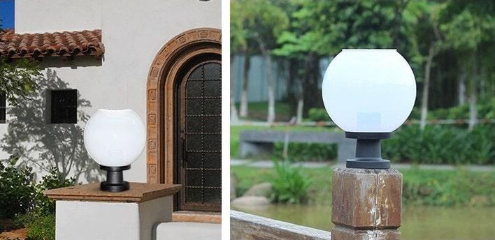Đèn trụ cổng năng lượng mặt trời, đèn trụ cổng giá rẻ, đèn trụ cổng tròn, đèn led trụ cổng, đèn cột cổng, đèn cổng, đèn trụ cổng hình cầu.
